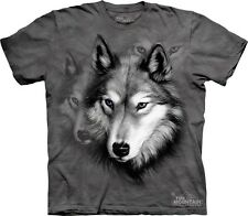 Wolf Portrait T-Shirt by The Mountain. Wolf Wolves Face Head Tee S-5XL NEW