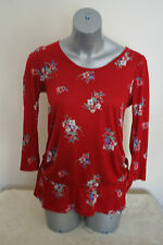 SALE  NEXT RED FLOWER TOP ONLY £4.99