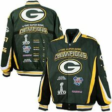 *NEW* Green Bay Packers 4-Time Super Bowl Champions Jacket - NFL Team Apparel