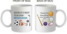 Personalised Teacher Mug/Coaster, gift/present/thankyou/leaving/end of term