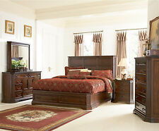 Modern Bedroom Set Furniture King Queen Size Beds 4pcs Traditional Style Set