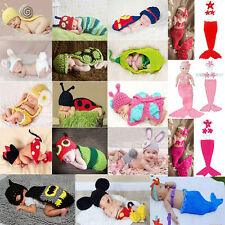 Cute Baby Girls Boy Newborn-12M Knit Crochet Handmake Costume Photo Prop Outfits