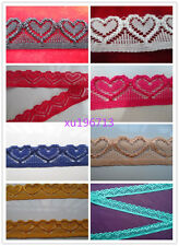 Wholesale beautiful heart-shaped stretch lace a variety of colors Free shipping