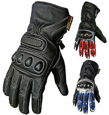 Trendy New Cowhide Leather Heavy Duty Motorcycle Gloves Motorbike Collection
