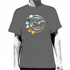 OFFICIAL Blink 182 - Chrome Smiley Charcoal T-shirt NEW Licensed Band Merch ALL
