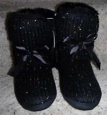 Womens Route 66 Black Malaga Knit Boot Slippers shoes SIZE 7-8, 9-10 NWT fur
