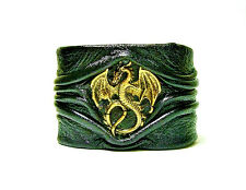 Dragon leather bracelet cuff. The Game of Thrones Dragon bracelet