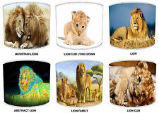 Lions & Cubs Lamp Shades Ideal To Match Duvets, Bedding, Curtains & Cushions etc