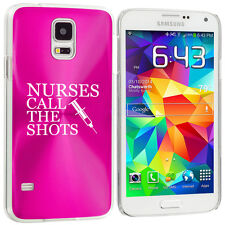 For Samsung Galaxy S3 S4 S5 Hot Pink Hard Case Cover Nurses Call The Shots