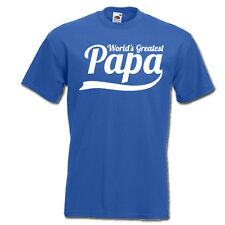 World's Greatest PAPA daddy new best ever dad funny mens t-shirt father day gift