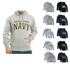 US Military logo Air Force Army Marines Print Fleece Pullover Hoodie Sweatshirt