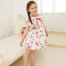 2014 Children Girl Dresses Summer Pleated One-Piece Princess printing Dress