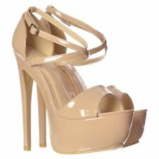WOMENS PEEP TOE PLATFORM STRAPPY STILETTO HIGH HEEL SHOE PARTY BRIDE SANDAL SIZE