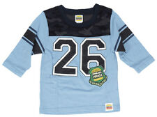 Harajuku Mini Toddler Blue Athletic Football T-Shirt Camo Print Jersey Top
