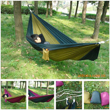 Portable Outdoor Double Fabric Travel Camping Bed Leisure Hammock Parachute
