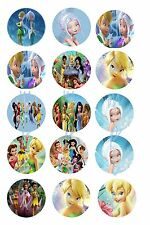 """Tinkerbell and Friends 02  Bottle Cap Images , scrapbooking, bows, 1"""" circles"""