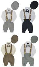 Infant & Toddler Boys Vintage Style Knickers Outfit Suspenders, Bowtie & Cap