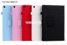 PU Leather Magnet Folio Folding Stand Case Flip Cover for Sony Xperia Tablet Z2