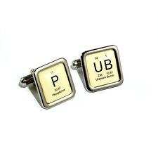Stag Do, Wedding Pub Periodic Table Beer Lager Cufflinks with Personalised Engra