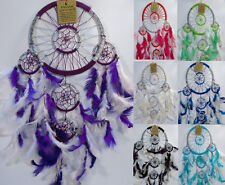 Dream Catcher lots of Beautiful Colours Pink Purple Silver American Indian Style