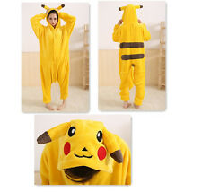 Animal Pikachu Unisex Onesie Kigurumi Fancy Dress Costume Hoodies Pyjamas UK