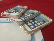 Aluminum Metal Bumper BLING Case Crystal Rhinestone Diamond FOR APPLE IPHONE 5S