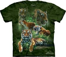 Jungle Tigers T-Shirt by The Mountain. Big Cat Zoo Lion Wildlife Sizes S-5XL NEW