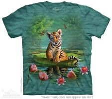 Tiger Lily T-Shirt by The Mountain. Big Cat Zoo Lion Wildlife Sizes S-5XL NEW