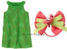 NWT Gymboree PALM BEACH PARADISE Green Flamingo Dress & Hair Set Girls Size 4 5
