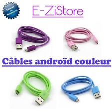 CHARGEUR SYNCHRO CABLE MICRO USB DATA COULEUR POUR SAMSUNG GALAXY S4 S3 S2 NOTE
