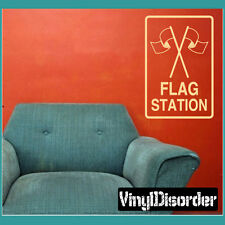 Flag Station Sign Paintball Vinyl Wall Decal or Car Sticker - MC03