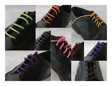 50% OFF 2nd PAIR -- Colored Waxed Shoe Laces Sneaker Work Dress strings Cotton