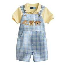 NEW Great Guy Blue Plaid Puppy Shortall  12 18 24 Months