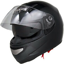 Carbon Fiber Air Pump Full Face Gloss Dual Visor DOT Motorcycle Helmet -S/M/L/XL
