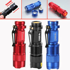 UltraFire 400Lm REAL CREE Q5 LED ZOOMABLE Zoom Mini Flashlight Torch 3-MODES G9