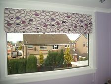 MADE TO MEASURE-MTM-ROMAN BLIND IN DAMSON-TEAL-GREEN OR RED PRESTIGIOUS ***NEW**