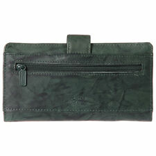 Buxton Leather Heiress Tab Checkbook Cover & Credit Card Wallet NEW
