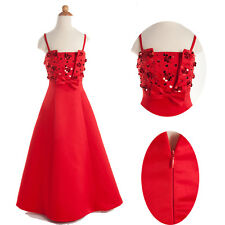 Stunning Beaded Girl Bridesmaid Formal Evening Party Prom Dress Age 2-11Year