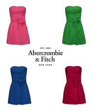 New Abercrombie Fitch by Hollister women Victoria Dresses Strapless Summer Size
