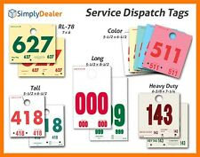 Service Dispatch Numbers - RL-78