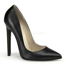 "PLEASER CLASSIC PUMPS STILETTO 5"" HIGH HEEL WOMEN BUSINESS SEXY POINTY TOE SHOES"