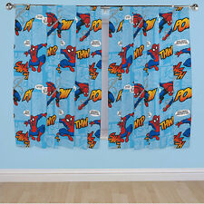 """Spiderman Boys Bedroom Curtains 66"""" x 54"""" + CHOICE OF FREE GIFT"""