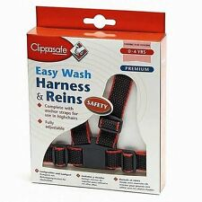 Clippasafe Easy Wash Toddler Harness and Toddler Reins - Baby safety Reins