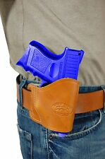 New Barsony Saddle Tan Leather Yaqui Gun Holster GLOCK Compact 9mm 40 45