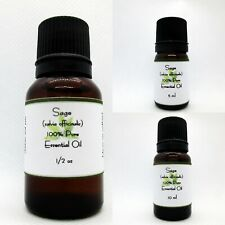 Sage Pure Essential Oil Buy any 3 same size get 1 Free