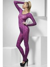 Pink Leopard Print Body Suit Sexy Animal Catsuit Ladies Womens Fancy Dress 6-14