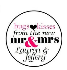 108 324 648 PERSONALIZED Wedding Candy Kiss Favor Labels Mr Mrs Hugs Kisses