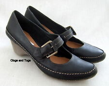 NEW CLARKS GRANOLA SYRUP BLACK LEATHER SHOES