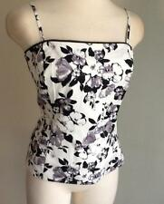 NWT WHITE HOUSE BLACK MARKET Midnight Floral Bustier Sz: 8,10,12