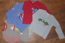 New ex Mini Boden Toy, Tricycle, Plane or Car Blue Red or Grey Marl L/S Top